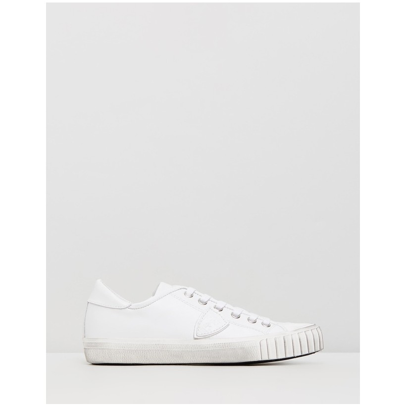 Gare Sneakers Veau Blanc Blanc by Philippe Model
