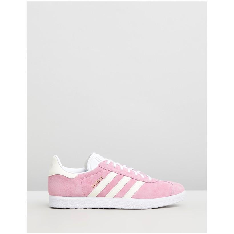 Gazelle - Women's True Pink, Ecru Tint & Feather White by Adidas Originals