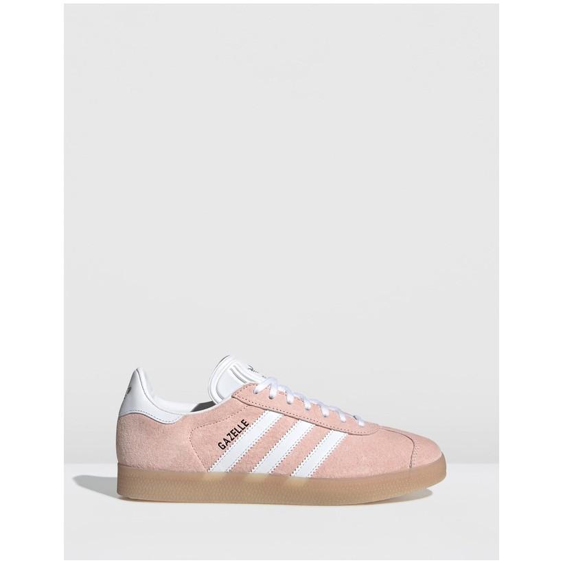 Gazelle - Women's Clear Orange, Footwear White & Ecru Tint by Adidas Originals