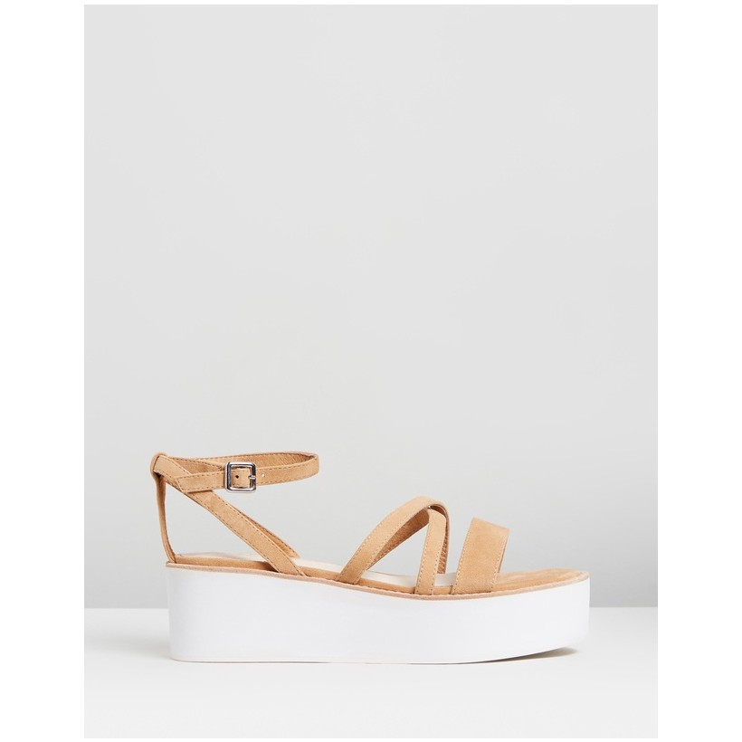 Gemma Wedges Sand by Sol Sana