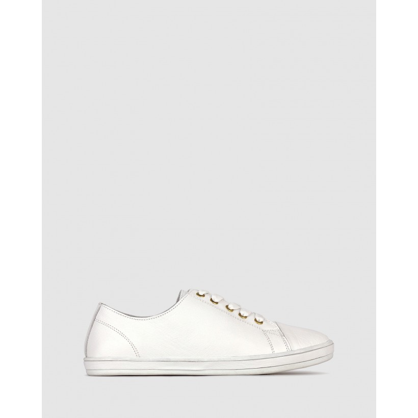 Georgie Leather Lifestyle Sneakers White by Airflex