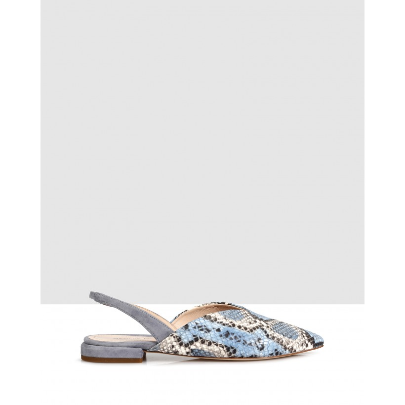 Gessy Slingbacks Jeans-Cielo by Sempre Di