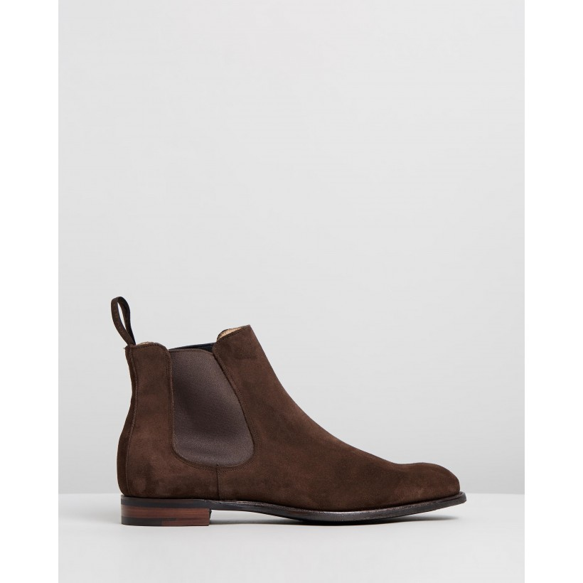 Godfrey D Chelsea Boots Plough Suede by Cheaney