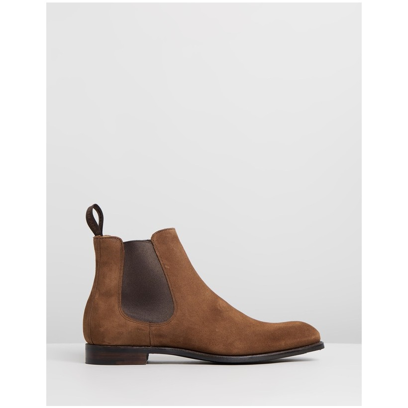 Godfrey D Chelsea Boots Fox Suede by Cheaney