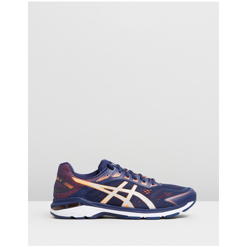 GT-2000 7 (2E) - Men's Indigo Blue & Shocking Orange by Asics