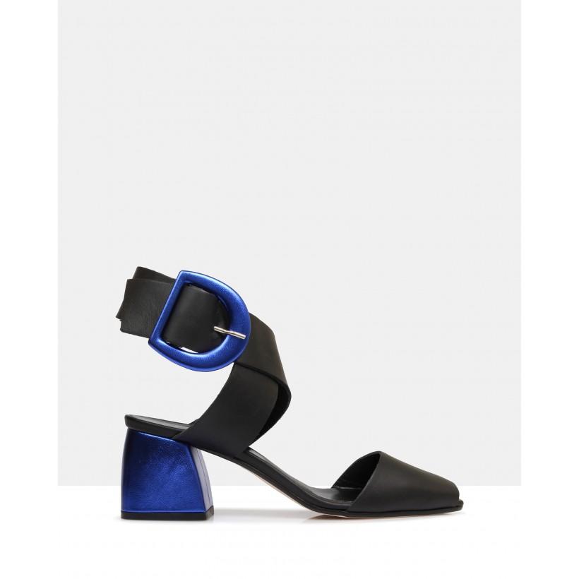 Heddon Heeled Sandals Black by Beau Coops