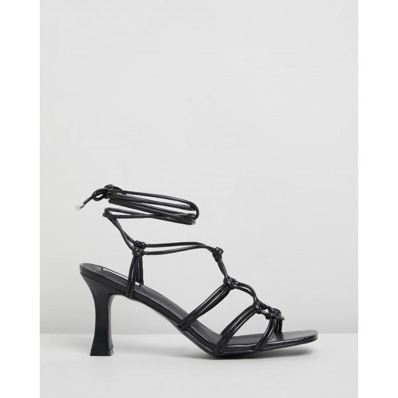 Helen Heels Black Smooth by Dazie