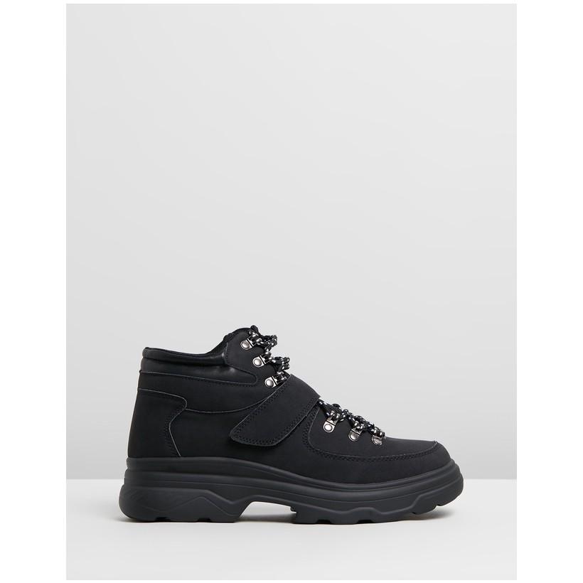 Helena Hiking Hi-Top Sneakers Black Micro by Rubi