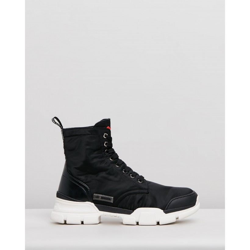 High-Top Lace-Up Sneakers Black by Love Moschino