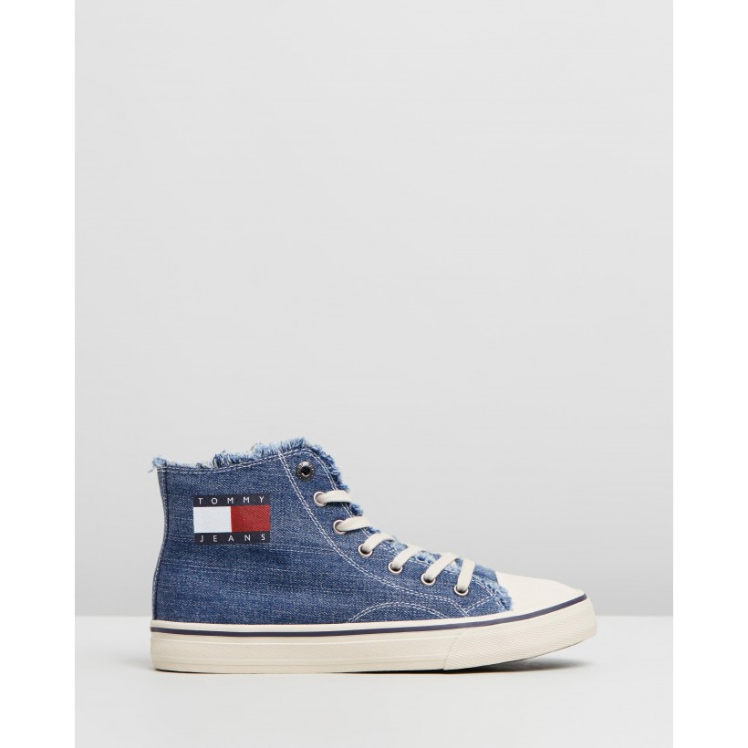 High-Top Sneakers - Women's Denim by Tommy Hilfiger
