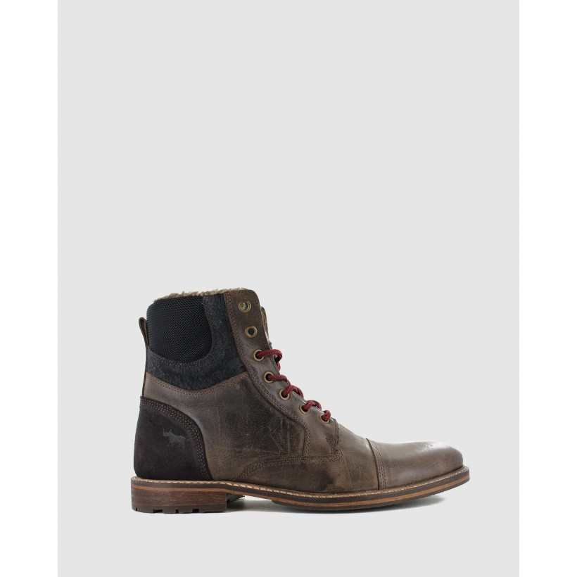 Highland Boots Dk Brown by Wild Rhino
