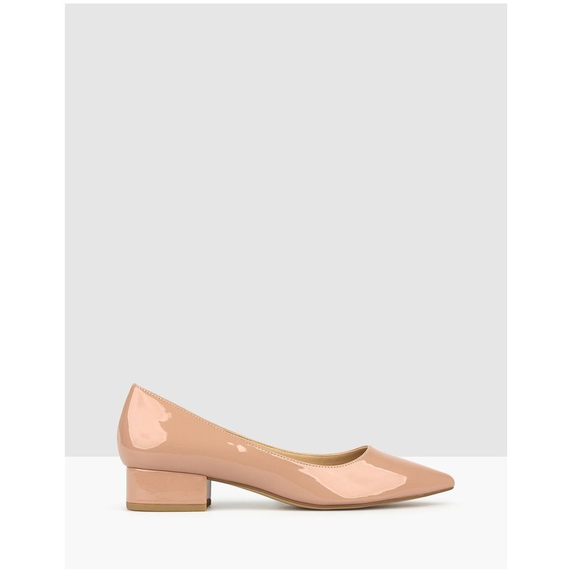 Impulse Pointed Toe Block Heel Pumps Blush by Betts