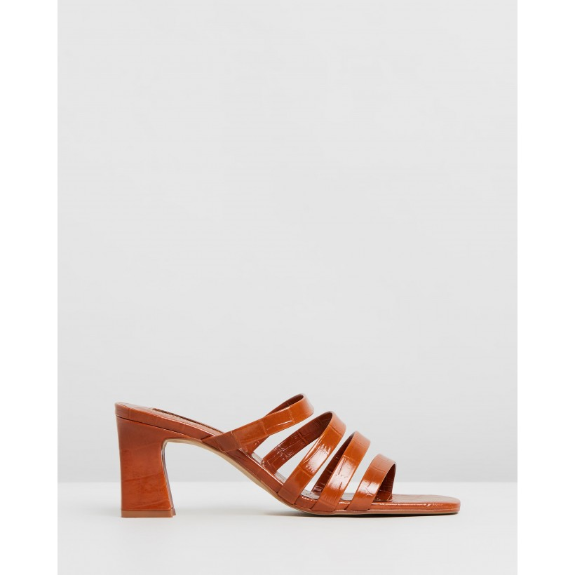 Iris Sandals Medium Brown by M.N.G