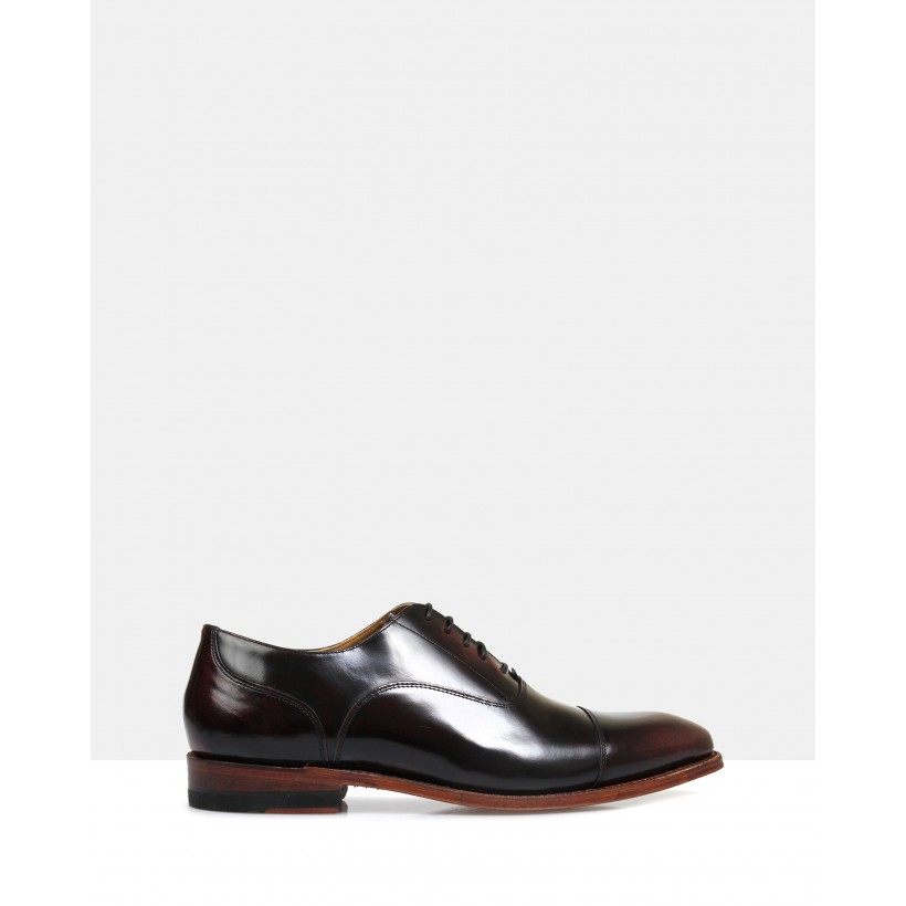 Iver Good Year Welted Oxfords Burgundy by Brando
