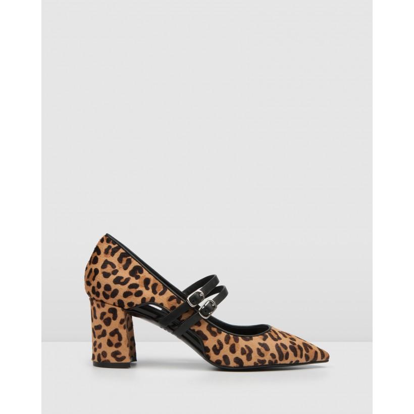 Ivy Mid Heels Leopard by Jo Mercer