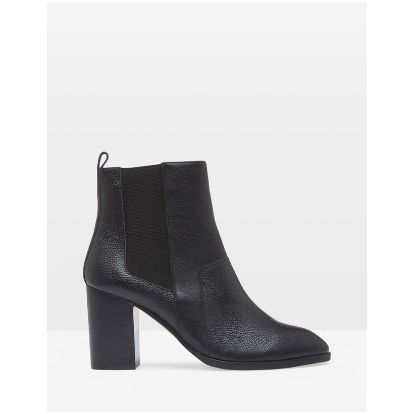 Izzy Textured Leather Ankle Boots Black by Oxford