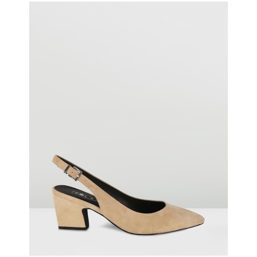 Jac Heels Light Tan Suede by Sol Sana