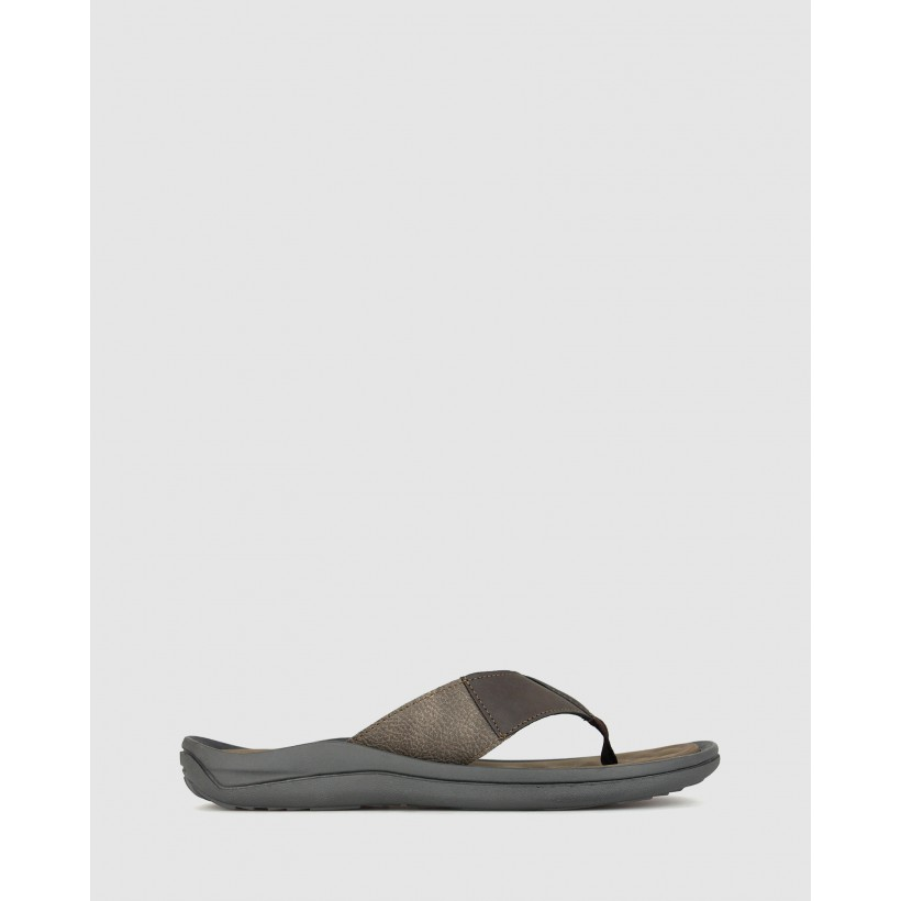 Jerry Slip On Sandals Brown by Airflex