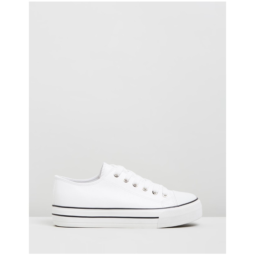 Jodi Platform Sneakers White by Rubi