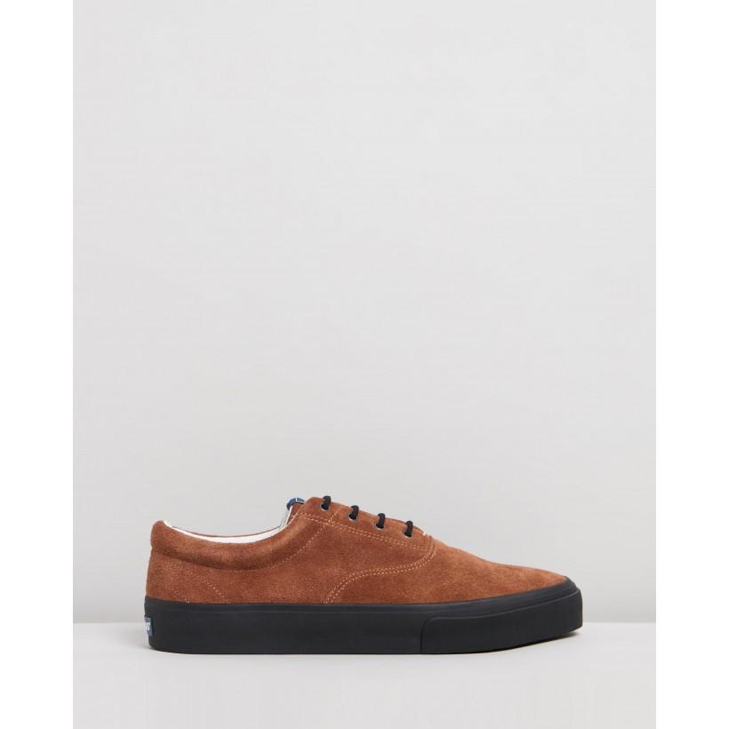 John Suede Sneakers Brown Cognac & Black by Sebago