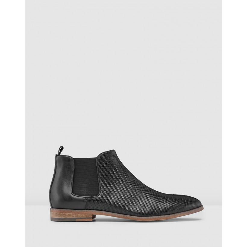 Jonas Chelsea Boots Black by Aq By Aquila