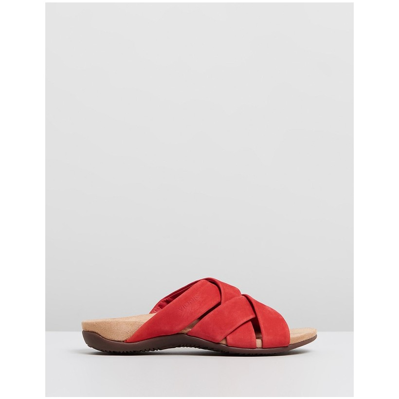 Juno Slide Sandals Cherry by Vionic