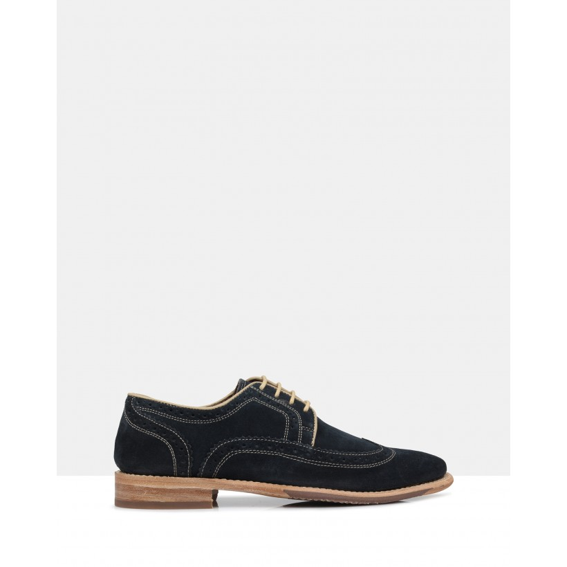 Kace Derby Brogues Navy by Brando