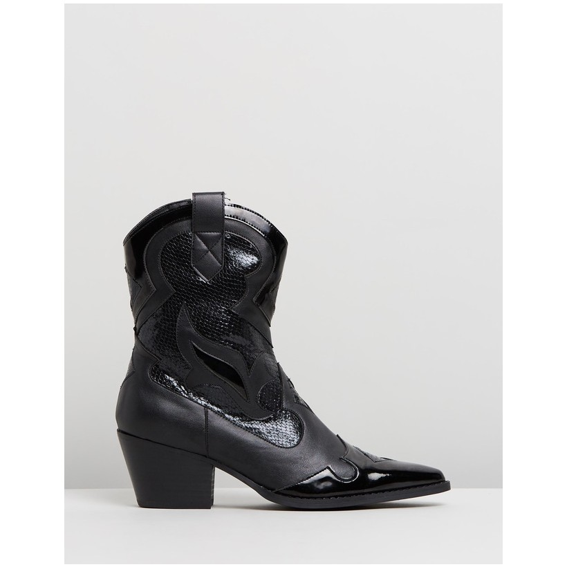 Kamila Boots Black Smooth by Spurr