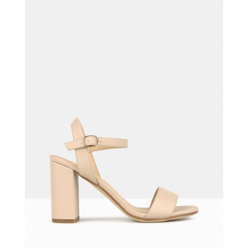 Karly Block Heel Sandals Nude by Betts