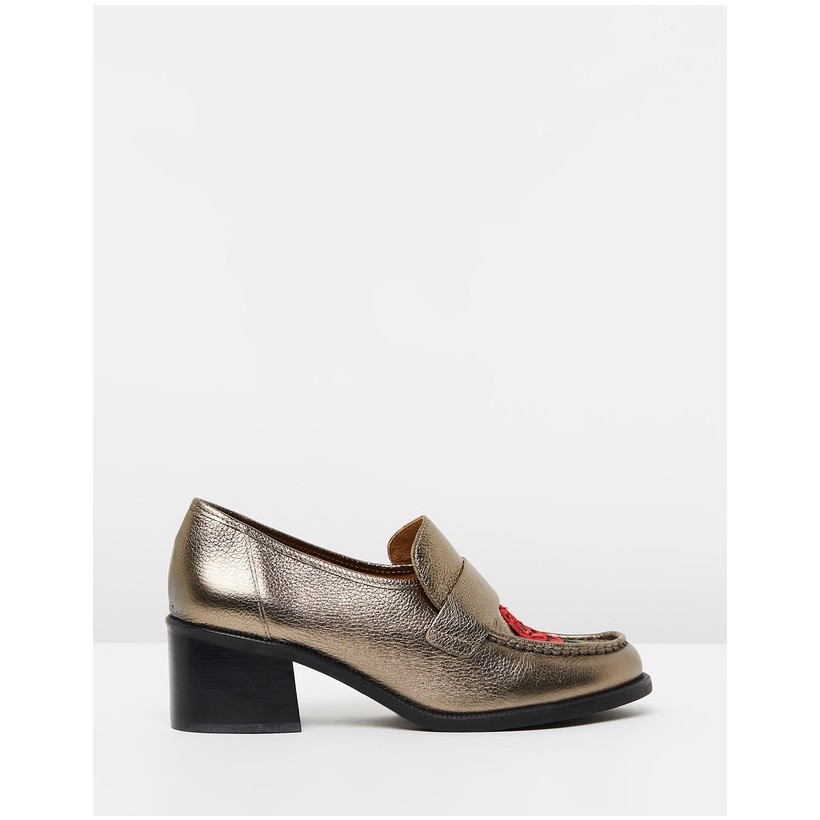 Krayon Heeled Loafers Pewter by Topshop