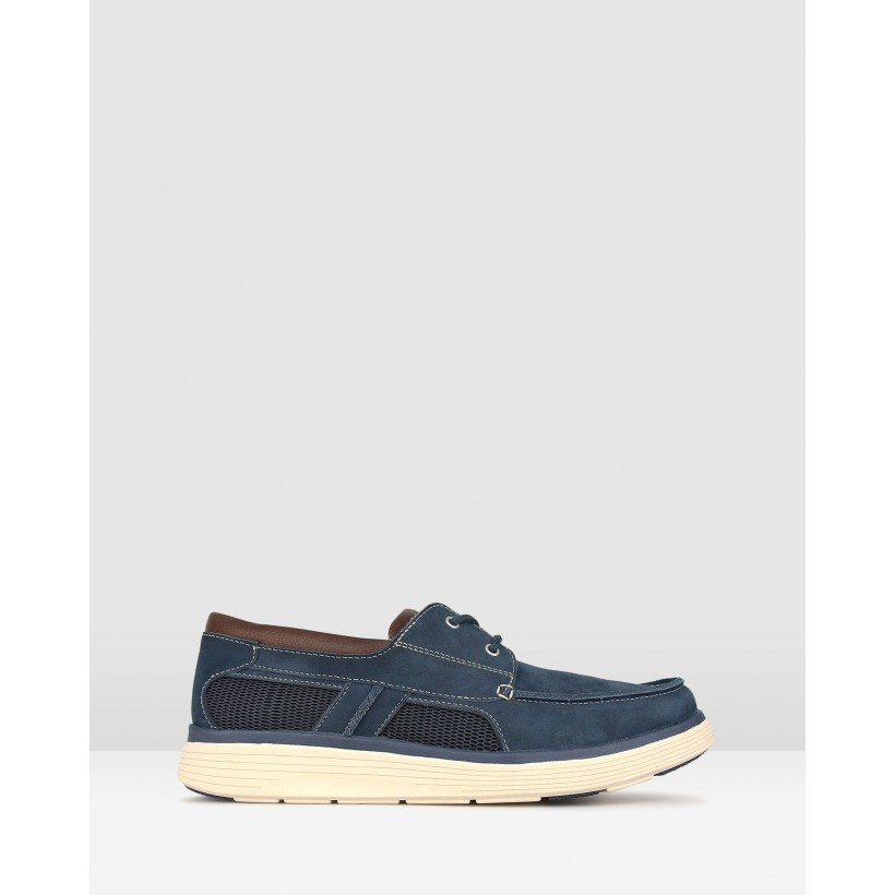 Launch Comfort Boat Shoes Navy by Airflex