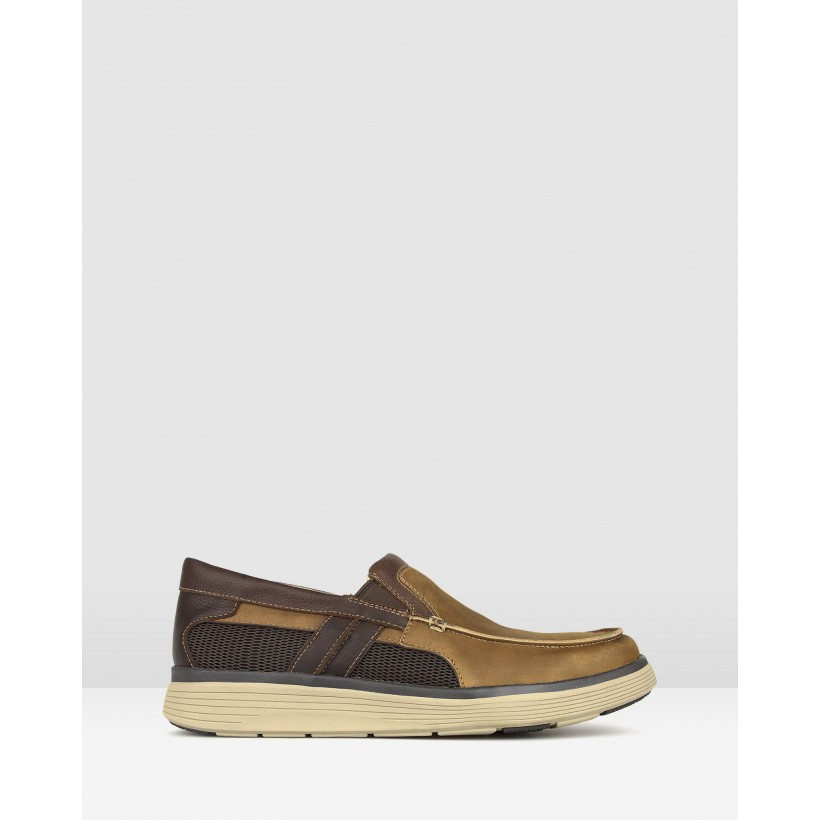 League Leather Comfort Loafers Brown by Airflex