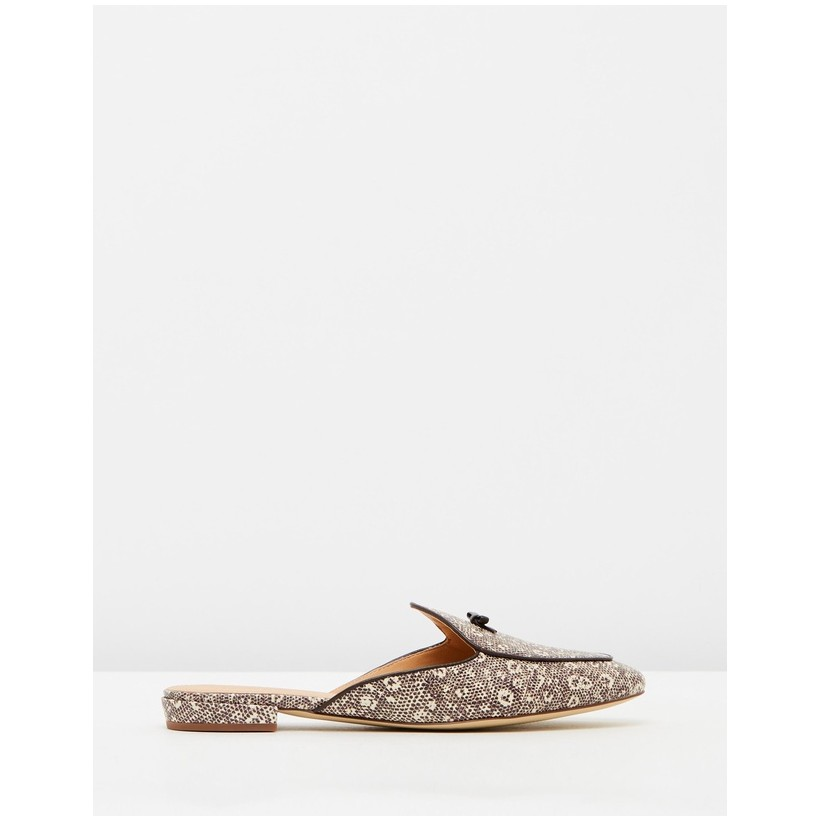 Leather Belgian Loafers Lizard by J.Crew