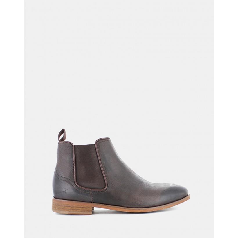 Lloyd Chelsea Boots Dark Brown Leather by Wild Rhino