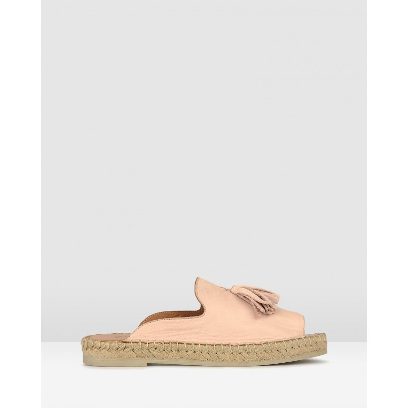 Love It Leather Espadrille Sandals Blush by Airflex