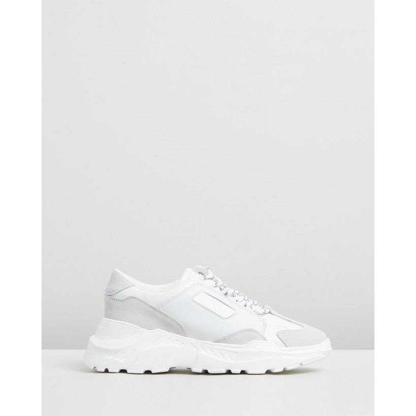 Low-Top Speed Trainers Bianco Ottico by Versace Jeans Couture
