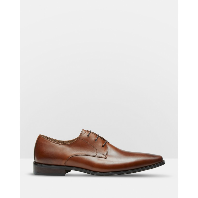Lucio Leather Derby Shoes Brown by Oxford