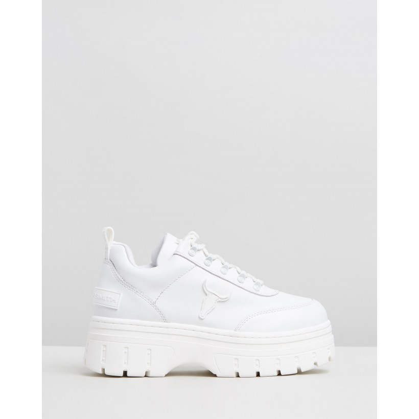 Lux White Brave Leather by Windsor Smith