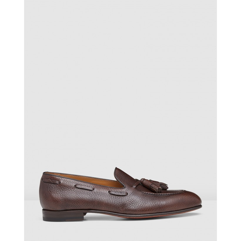 Lyons Loafers Chestnut by Aquila