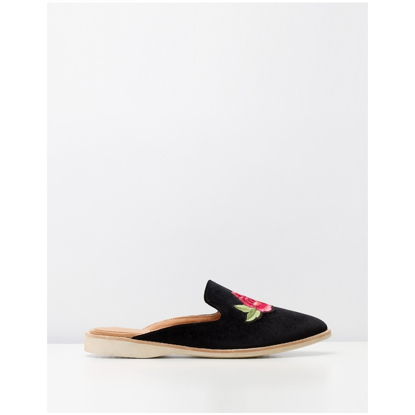 Madison Mule Flats Black by Rollie