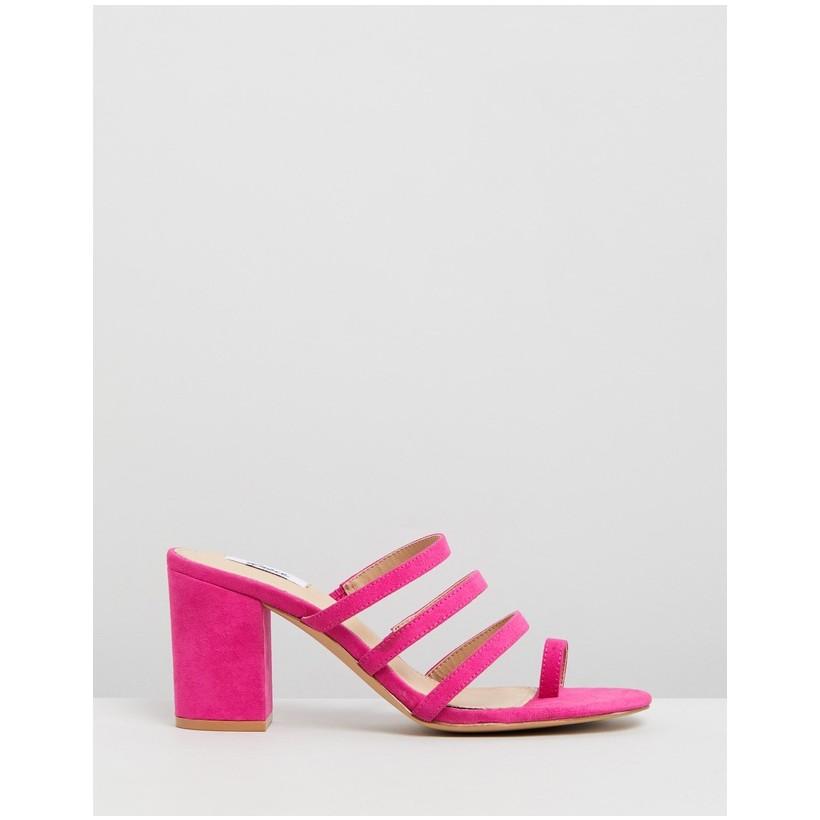 Madrid Mules Pink Microsuede by Dazie