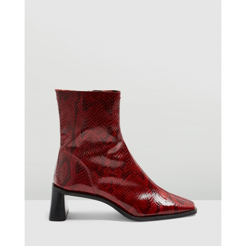 Maja Boots Red by Topshop