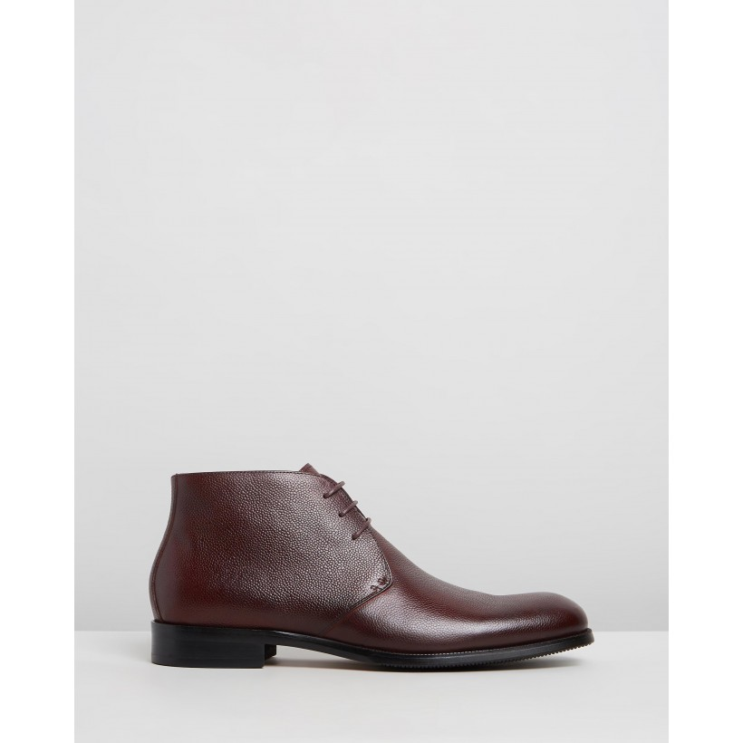 Martin Leather Dress Boots Brown by Double Oak Mills