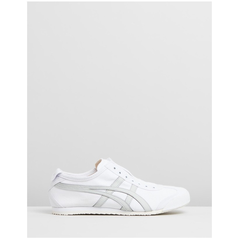 Mexico 66 Slip-On - Unisex White & Light Sage by Onitsuka Tiger
