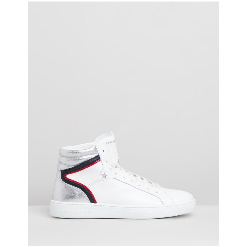 Mid Iconic Sneakers - Women's White by Tommy Hilfiger