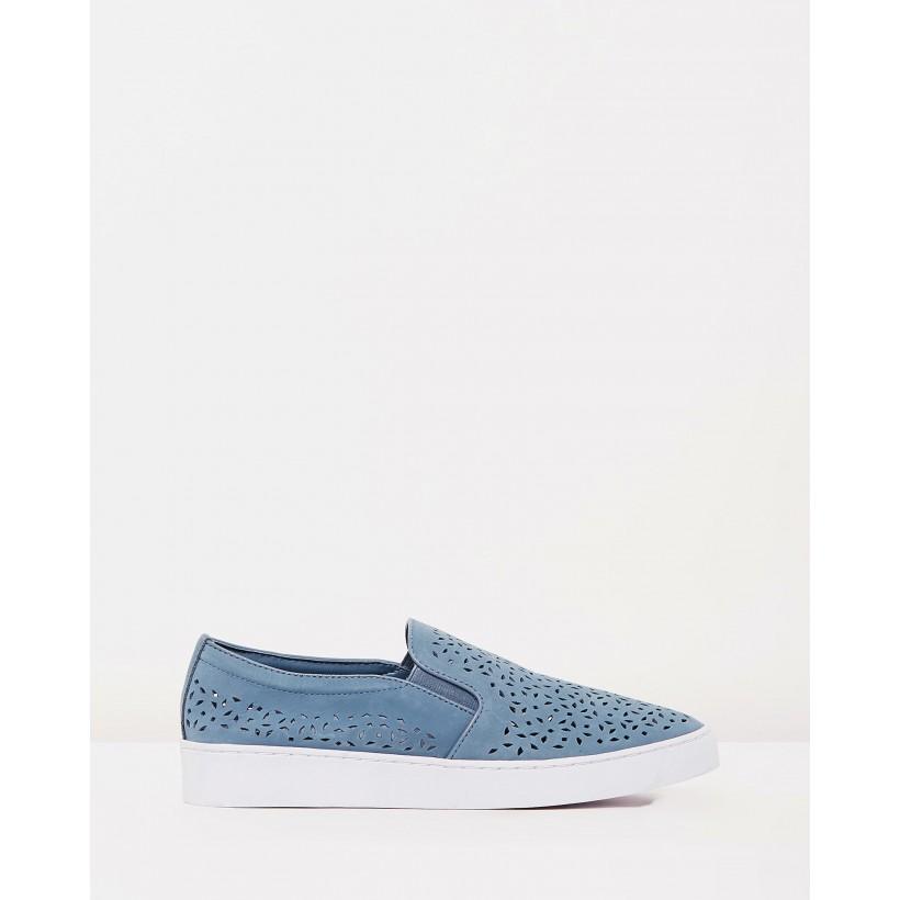 Midi Perf Slip-On Sneakers Light Blue by Vionic