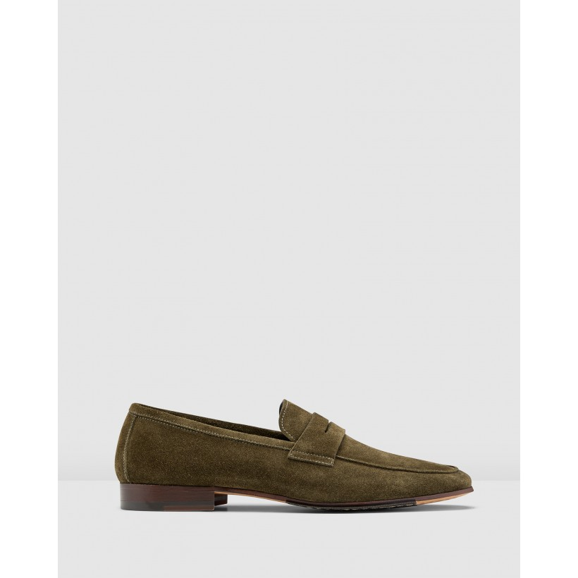 Miguel Loafers Olive by Aquila