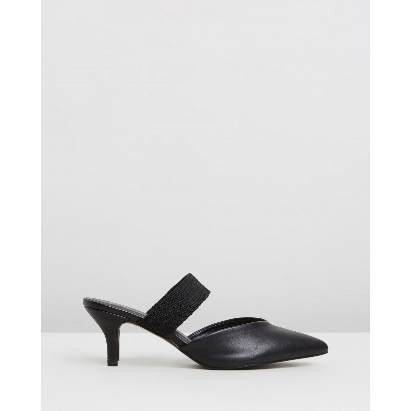 Miller Mules Black Smooth by Spurr