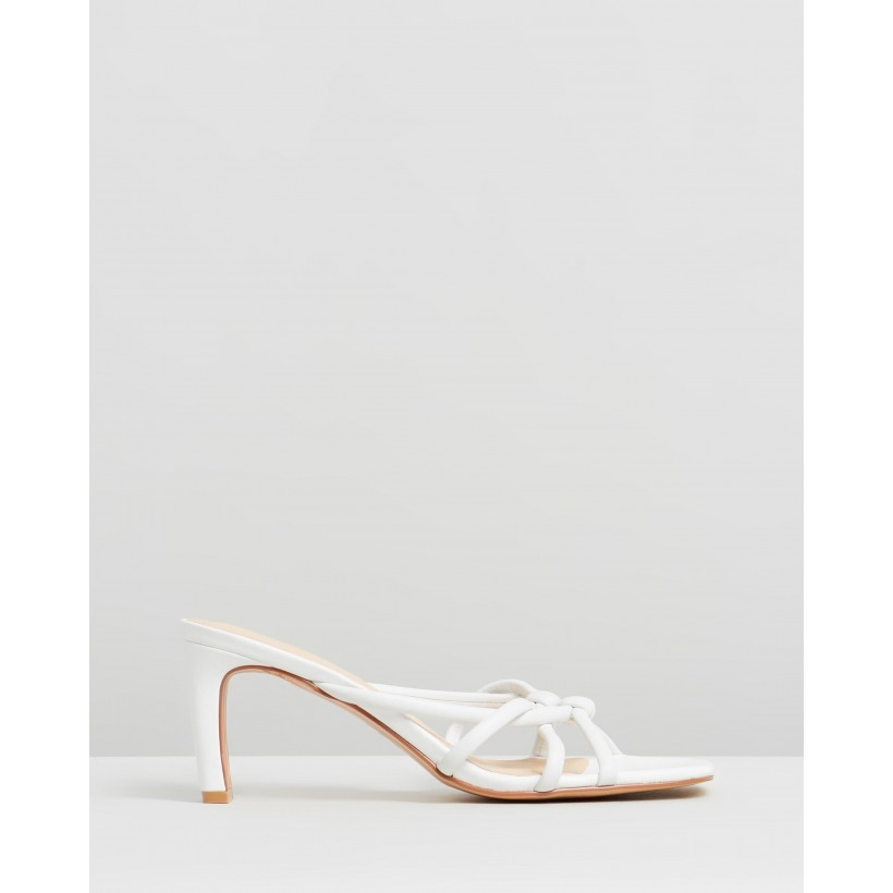 Mimi Leather Heels White by Atmos&Here