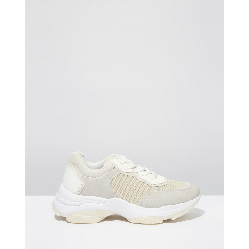 Monica Sleek Chunky Sneakers Cream